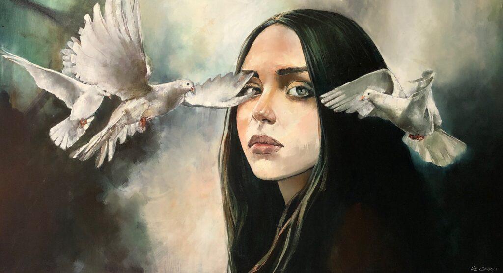 Liz Gray's Alignment oil painting
