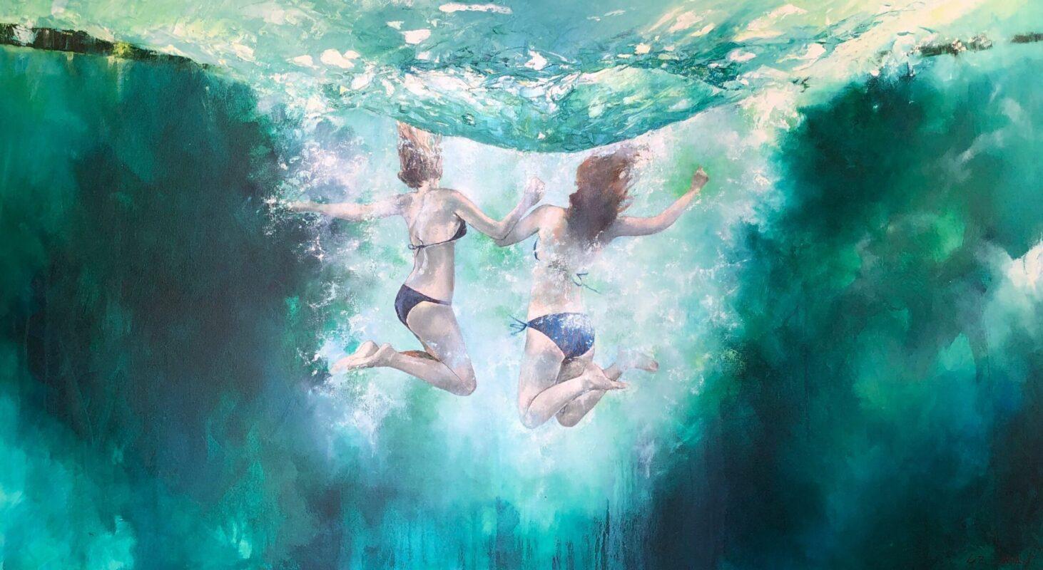 Liz Gray's Double Joy oil painting