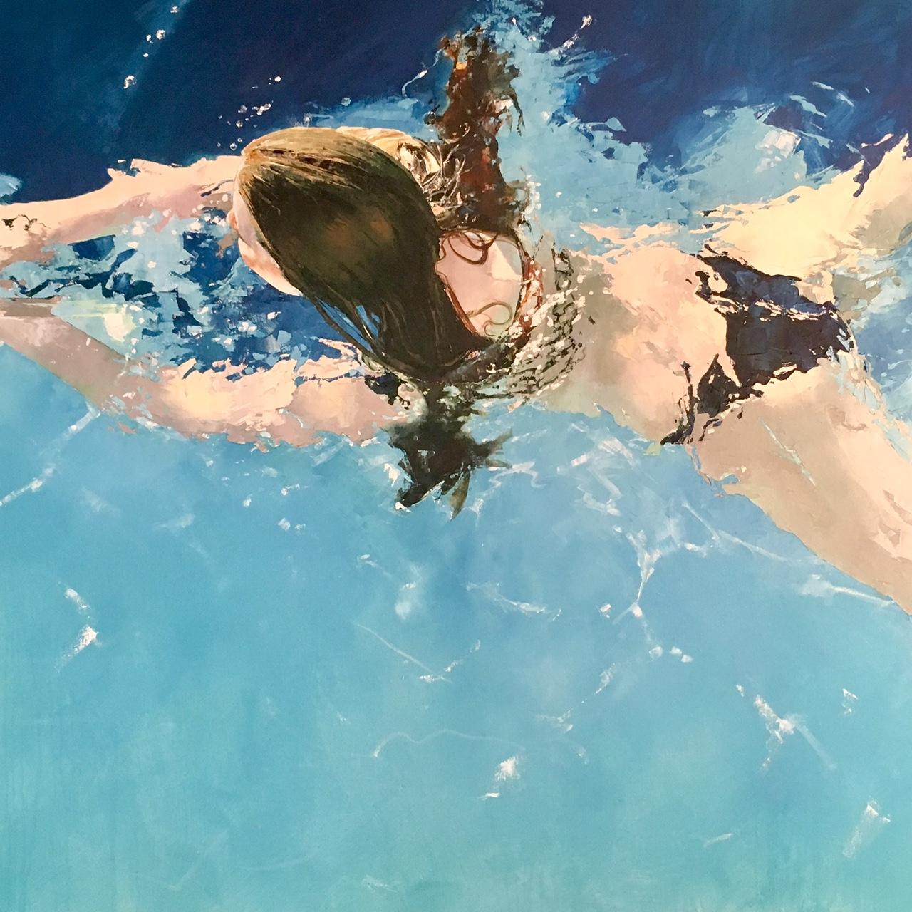 Liz Gray's Morning Swim oil painting