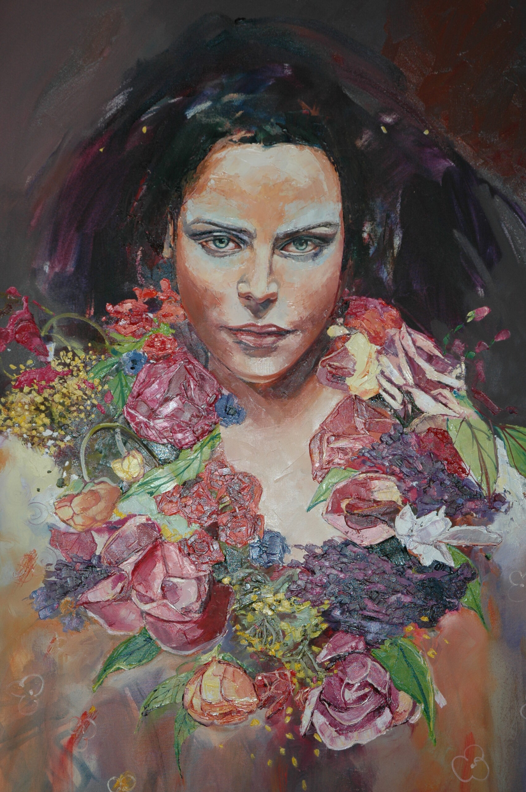 Liz Gray's Wolfgirl oil painting