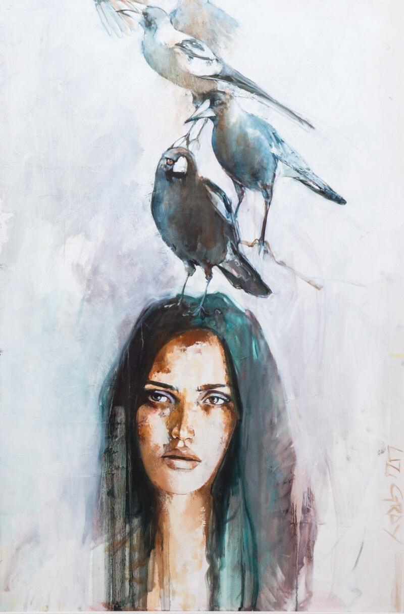 Liz Gray's Flights of Fancy oil painting