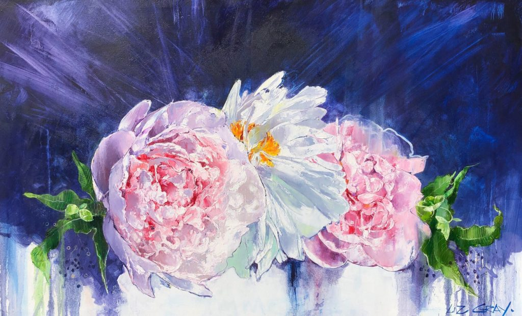 Liz Gray's In the pink oil painting
